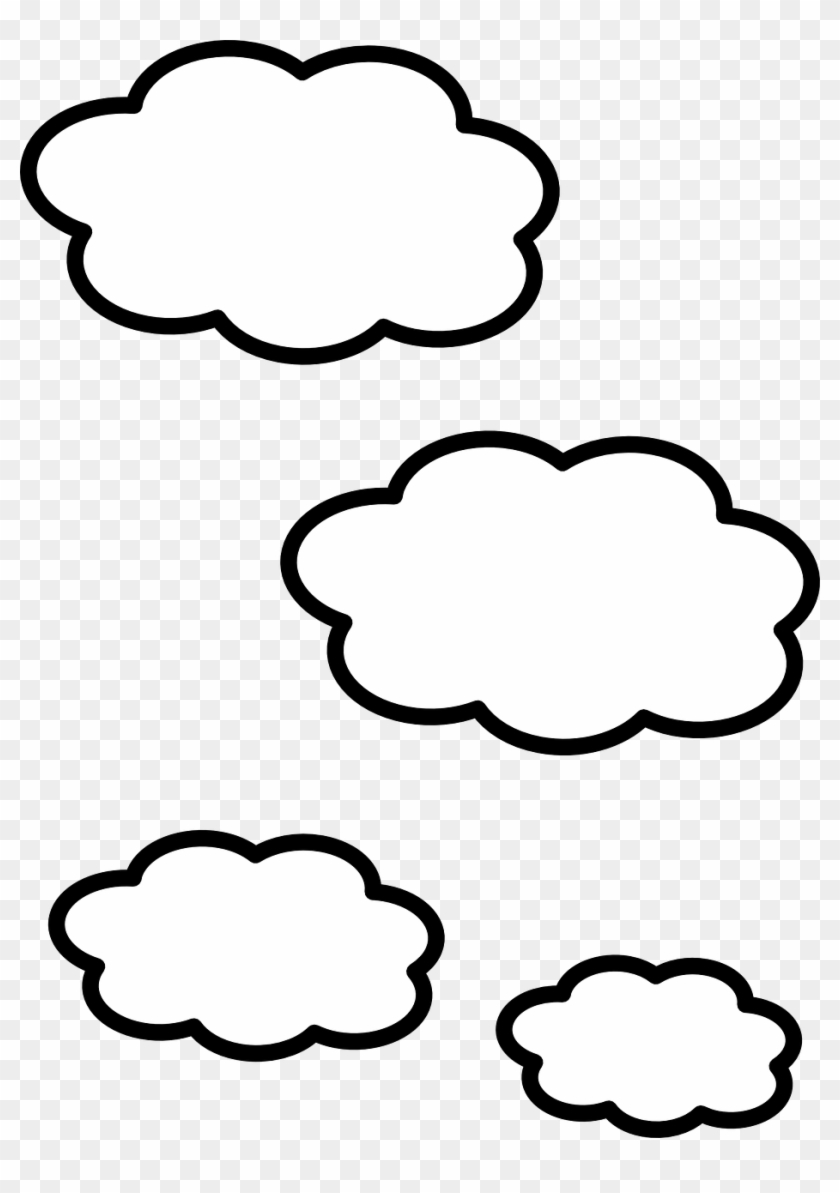 Clouds black and white clipart png transparent library Cloud White Shapes Weather - Clouds Black And White Clipart, HD Png ... png transparent library