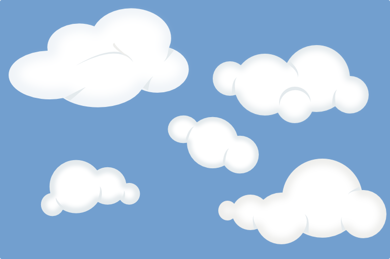 Clouds clipart file vector File:Set of soft clouds.png - Wikimedia Commons vector
