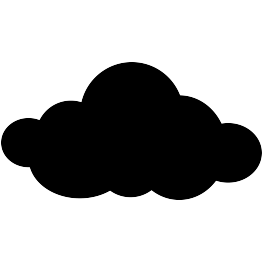 Clouds clipart file banner freeuse library Cloud Silhouette | Template | Cloud template, Free silhouette files ... banner freeuse library