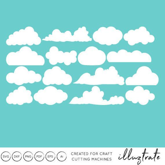 Clouds clipart file svg freeuse stock Cloud SVG, Cloud DXF, Cloud, clipart, clip art, SVG, dxf, cut, file ... svg freeuse stock
