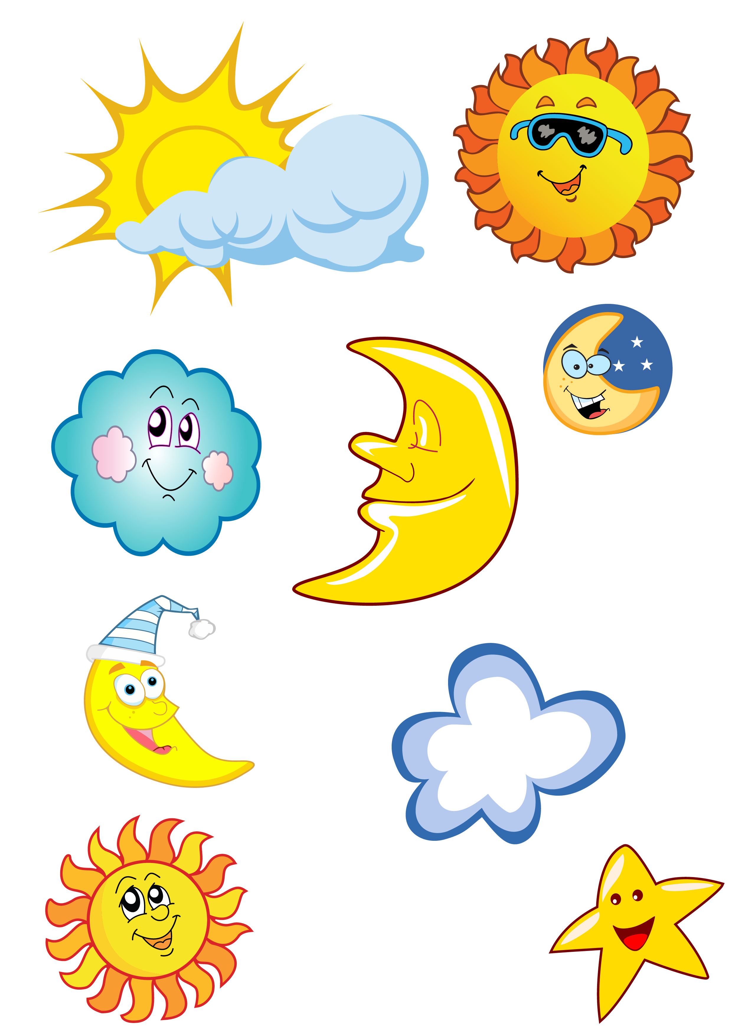 Clouds clipart pack image royalty free library Best Sun And Clouds Clipart #19983 - Clipartion.com image royalty free library