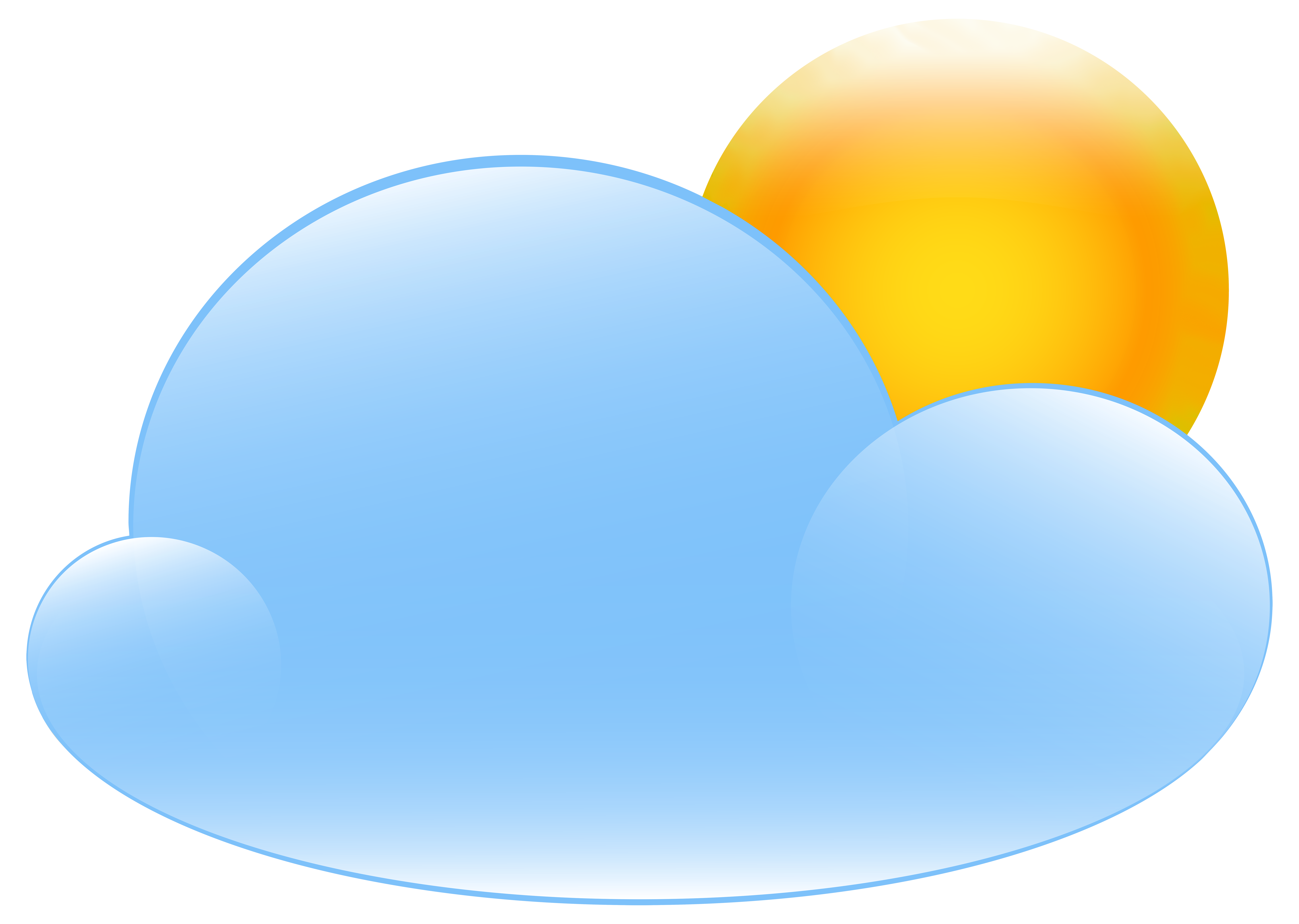 Sun through window clipart image black and white Partly Cloudy with Sun Weather Icon PNG Clip Art - Best WEB Clipart image black and white