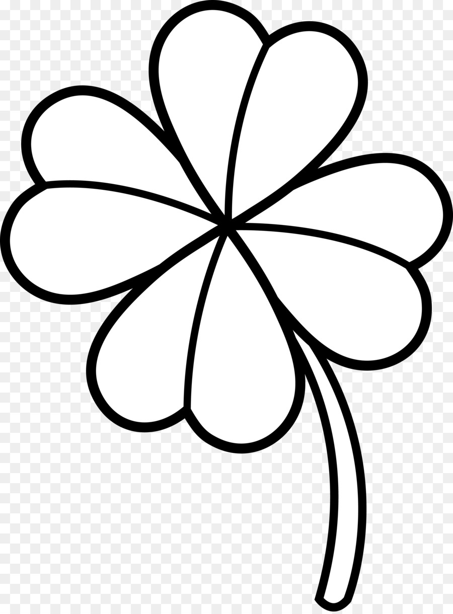 Clover black and white clipart svg royalty free download Black And White Flower png download - 5679*7664 - Free Transparent ... svg royalty free download