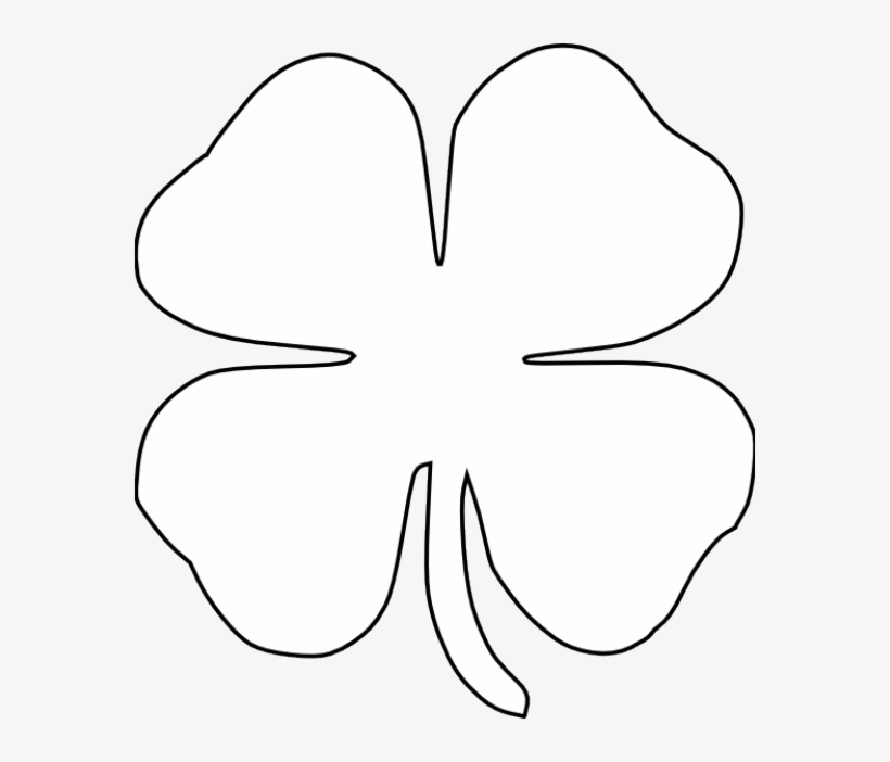 Clover black and white clipart banner black and white download Free St Patricks Day Printables - Four Leaf Clover Clipart Black And ... banner black and white download