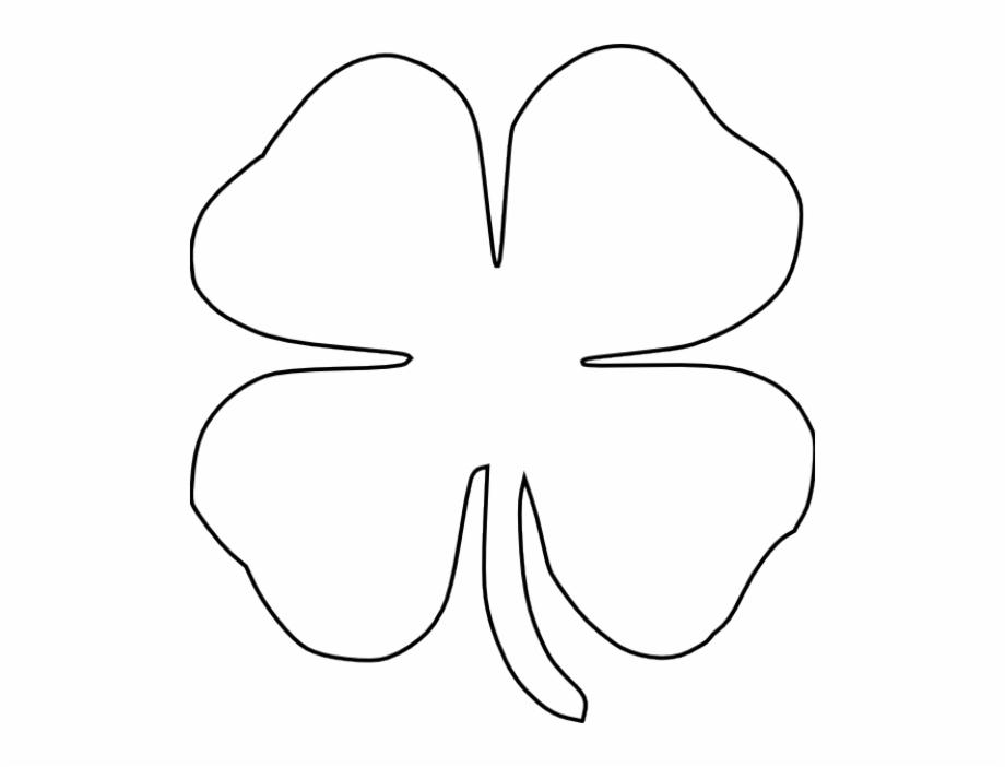 Clover outline clipart picture Shamrock Outline Clip Art A Shamrock Wearing Hat On - Four Leaf ... picture