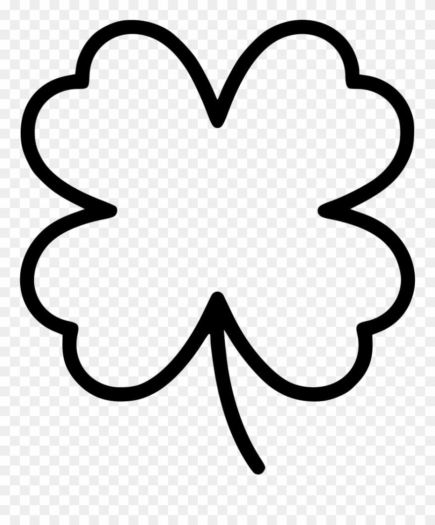 Clover outline clipart graphic download Clipart Library Download Png Icon Free Download - Clover Outline Svg ... graphic download