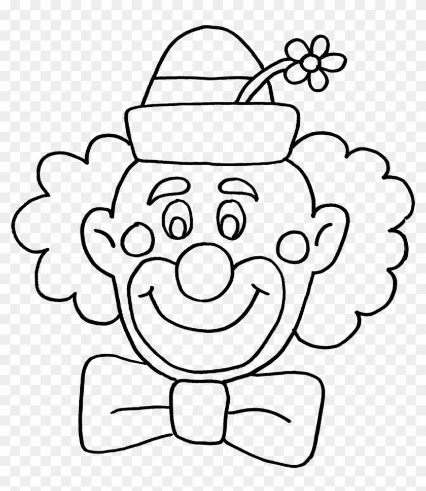 Clown and circus clipart black and white jpg transparent Clown Circus Fun Coloring Book Png Image - Black And White Happy ... jpg transparent