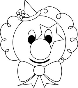Clown face clipart black and white royalty free library Clown face clipart black and white 1 » Clipart Portal royalty free library