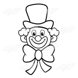 Clown face clipart black and white image black and white stock Clown Clipart Black And White | Free download best Clown Clipart ... image black and white stock