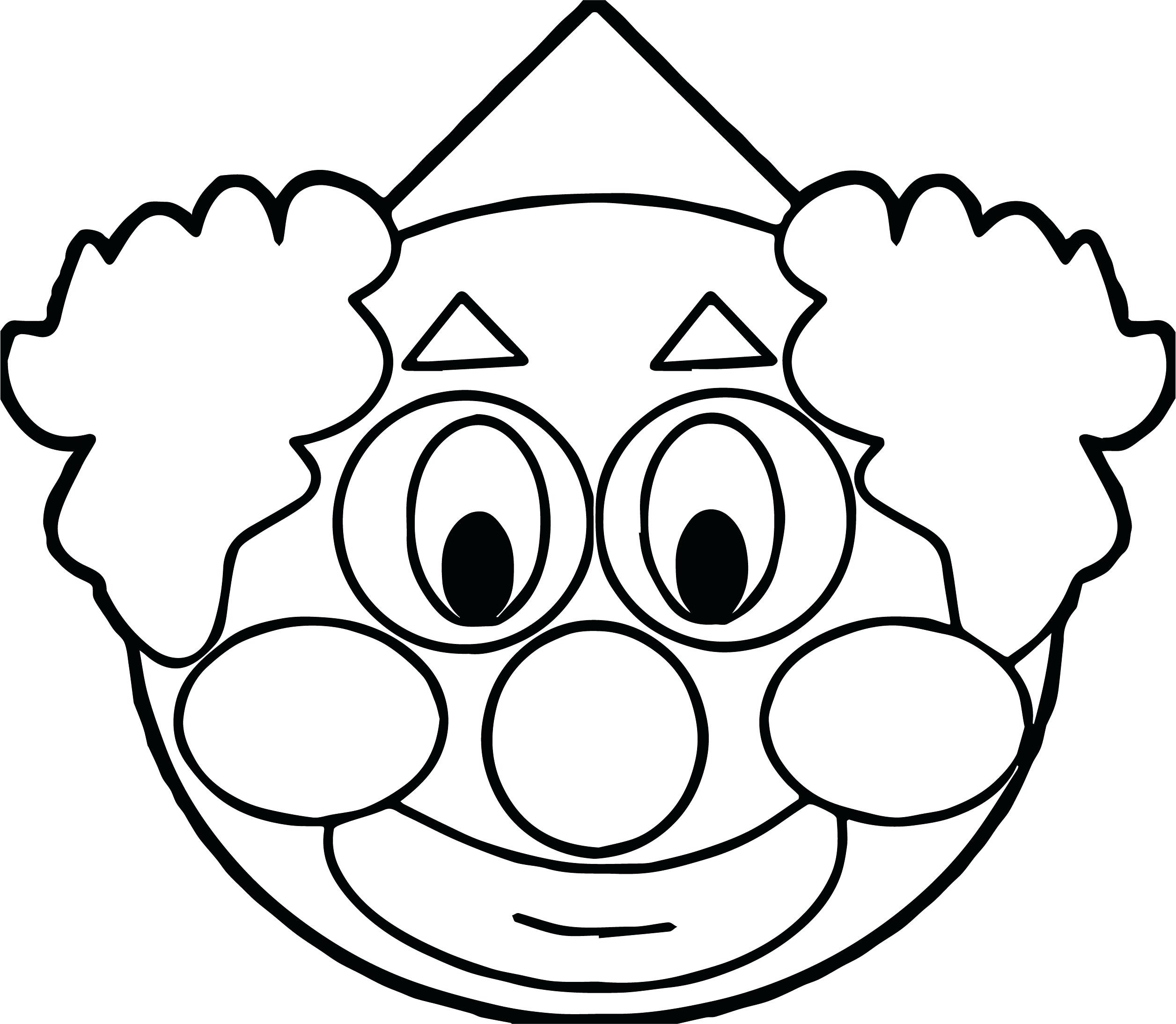 Clown face clipart black and white clip free library Clown Face Drawing | Free download best Clown Face Drawing on ... clip free library