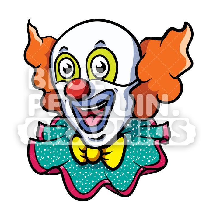Clown head clipart jpg freeuse download Clown Head Vector Cartoon Clipart Illustration jpg freeuse download