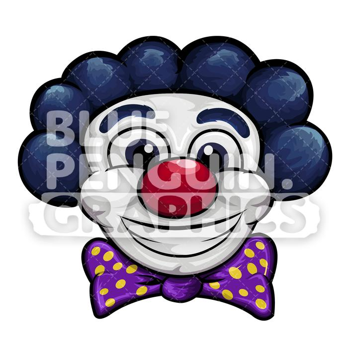 Clown head clipart clip transparent library Smiling Clown Head Vector Cartoon Clipart Illustration clip transparent library