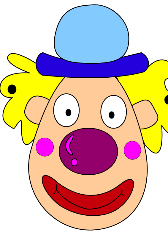 Clown head clipart banner free stock Free Clipart: Clown head | margaux banner free stock