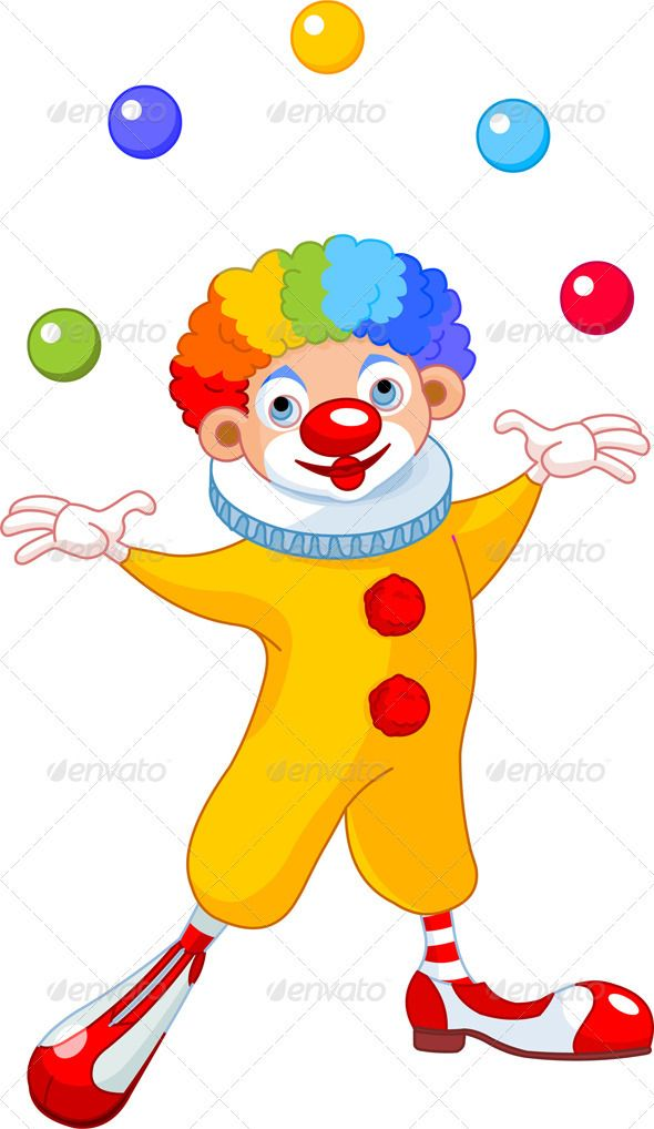 Clown juggling clipart clipart freeuse library Juggling Clown | Fonts-logos-icons | Clip art, Birthday cartoon ... clipart freeuse library