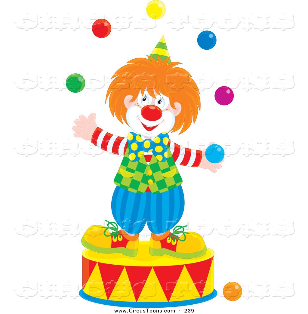 Clown juggling clipart image download Circus Clipart of a Smiling Clown Juggling on a PodiumSmiling Clown ... image download