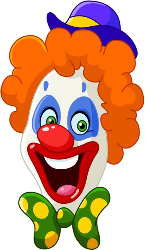 Clown kopf clipart picture freeuse download 17 Best images about CLIP ART - CLOWNS - CLIPART on Pinterest ... picture freeuse download