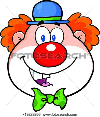 Clip art clowns heads. Clown kopf clipart