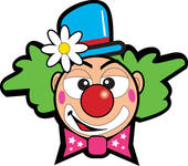 Clown kopf clipart. Of k search clip