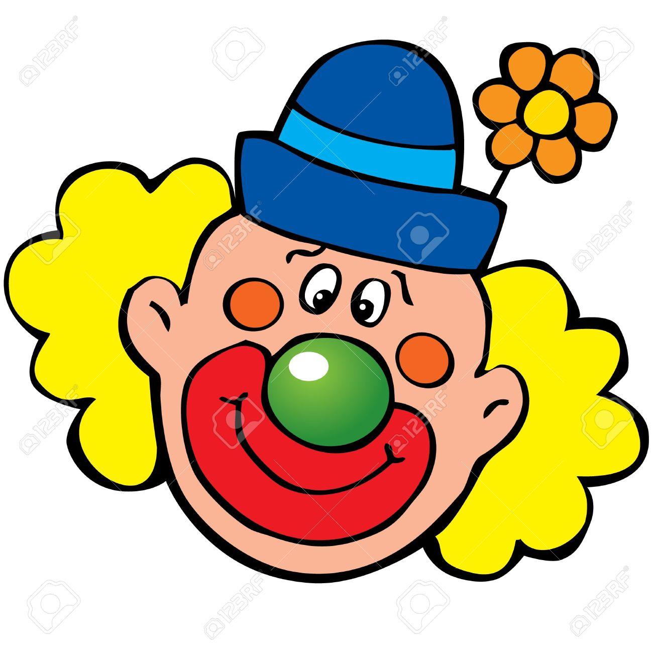 Clown kopf clipart. Clipartfest hair wig happy
