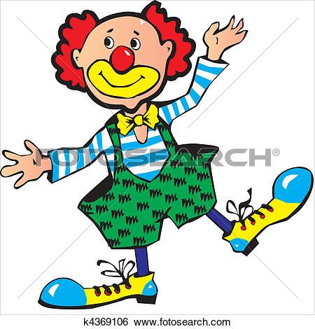 Clip art of k. Clown kopf clipart