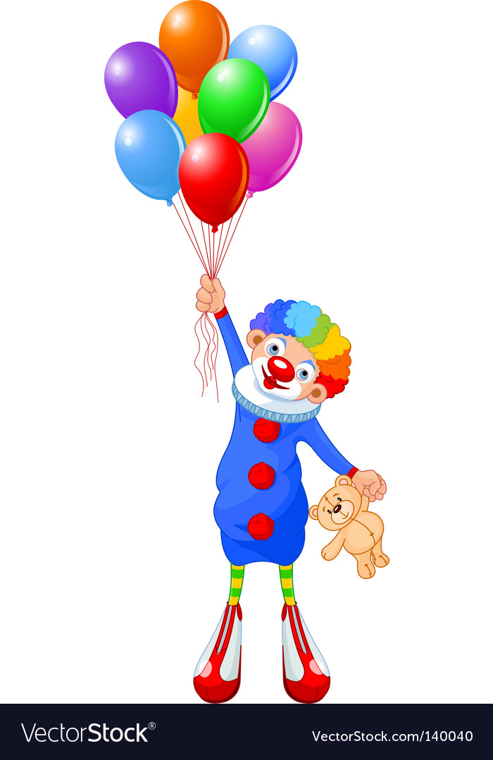 Clown with balloon clipart picture royalty free library Clown and balloons picture royalty free library
