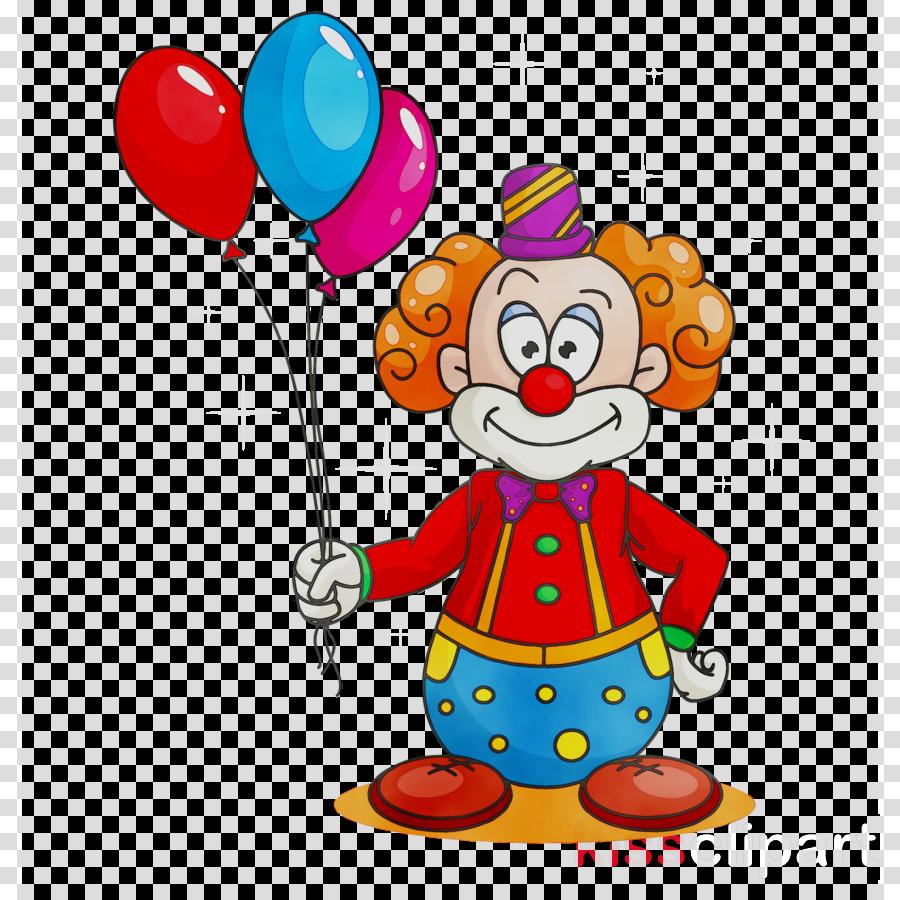 Clown with balloon clipart banner freeuse download Balloon Illustration clipart - Clown, Cartoon, Balloon, transparent ... banner freeuse download