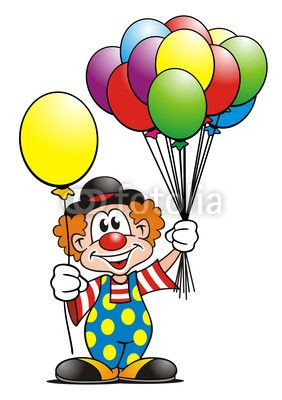 Clown with balloon clipart download clowns.quenalbertini: Clown with balloons | draw and paint ... download