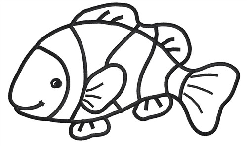 Clownfish clipart black and white clip free library Fish black and white clown fish clip art black and white free ... clip free library