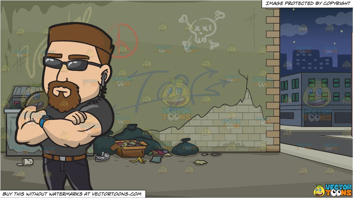 Club bouncer clipart picture freeuse library A Professional Club Bouncer and A Dodgy Alley Background picture freeuse library