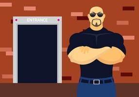 Club bouncer clipart clip library download Bouncer Character Vector - Download Free Vector Art, Stock Graphics ... clip library download
