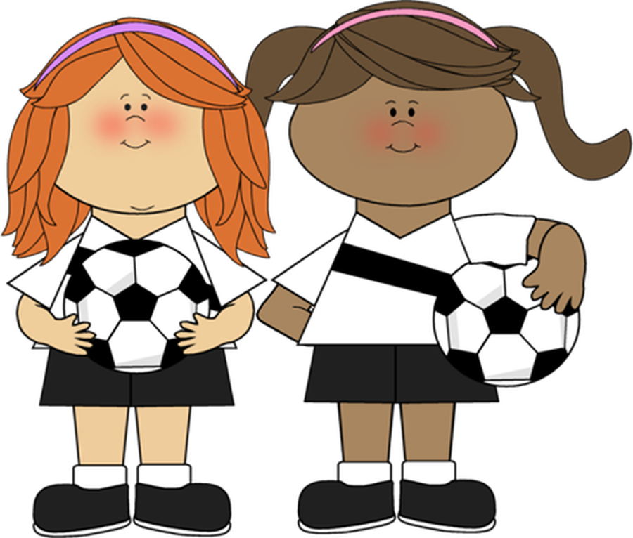 Club girl clipart clip library HD Denby Dale First Nursery School Girls Club - Girls Playing Soccer ... clip library