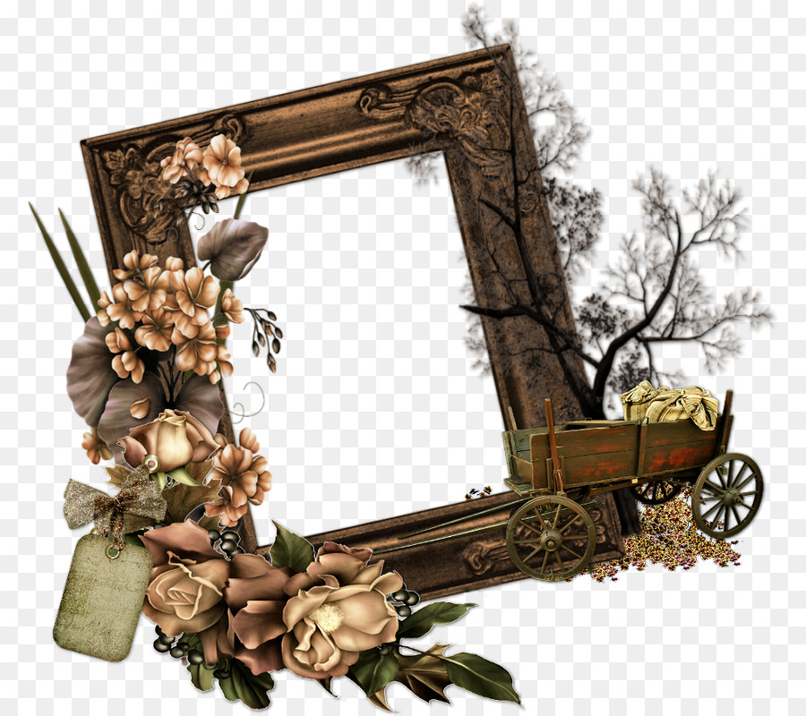 Cluster frame clipart image royalty free download Flower Background Frame png download - 840*800 - Free Transparent ... image royalty free download