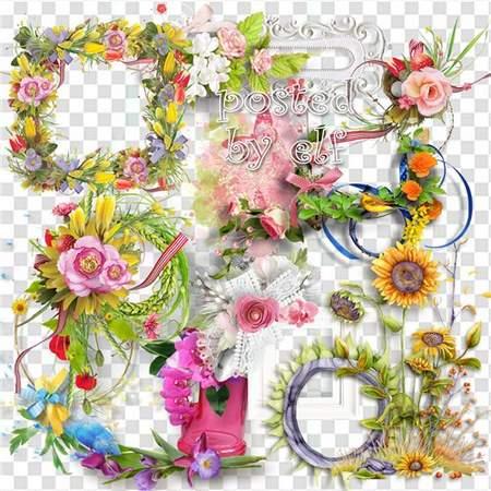 Cluster frame clipart clip art transparent download Flower clipart download - Flower clusters, frames - 226 free png ... clip art transparent download