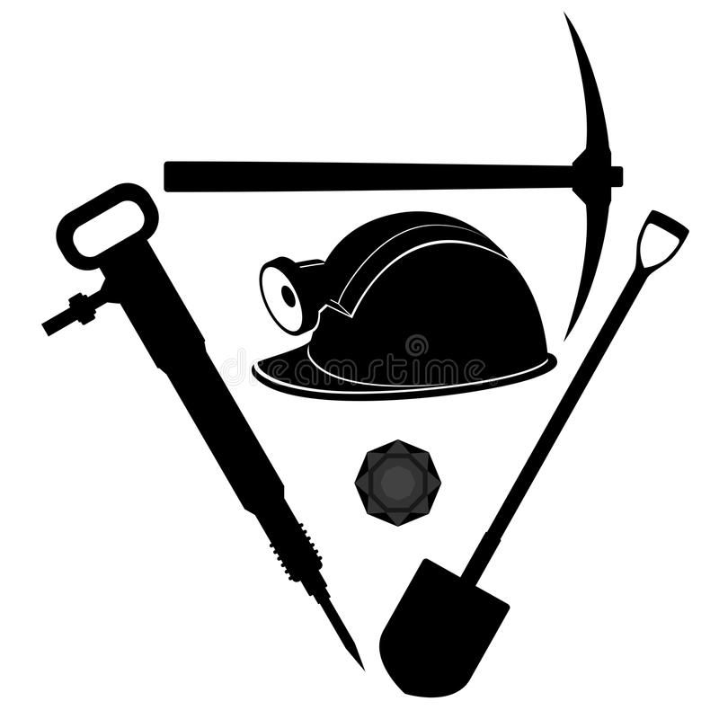 Coal miners hard hat clipart black and white jpg library Miner Tool Stock Vector | clip art | Coal miners, Picture templates ... jpg library