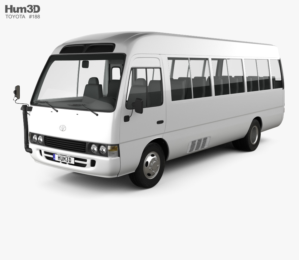 Coaster bus clipart graphic free Toyota Coaster 2014 3D model graphic free