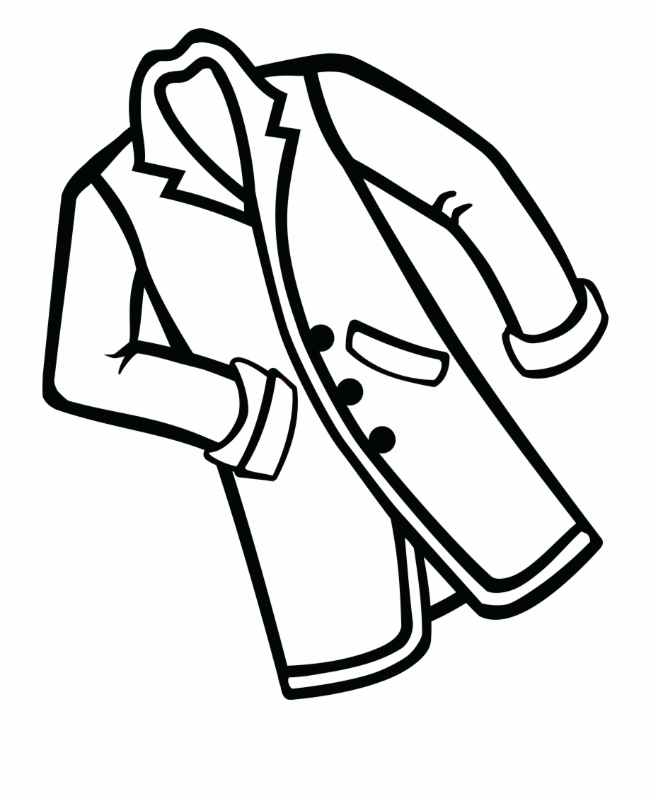 Coat clipart image clip art free stock Free Clipart Of A Coat - Coat Black And White Free PNG Images ... clip art free stock
