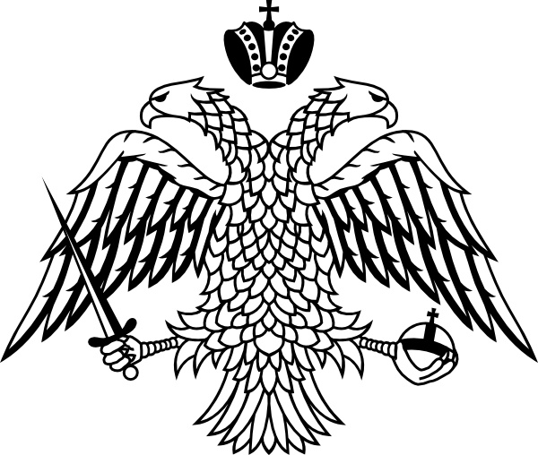 Coat of arms black and white free clipart svg transparent stock Double Headed Eagle Byzantine Empire Coat Of Arms clip art Free ... svg transparent stock
