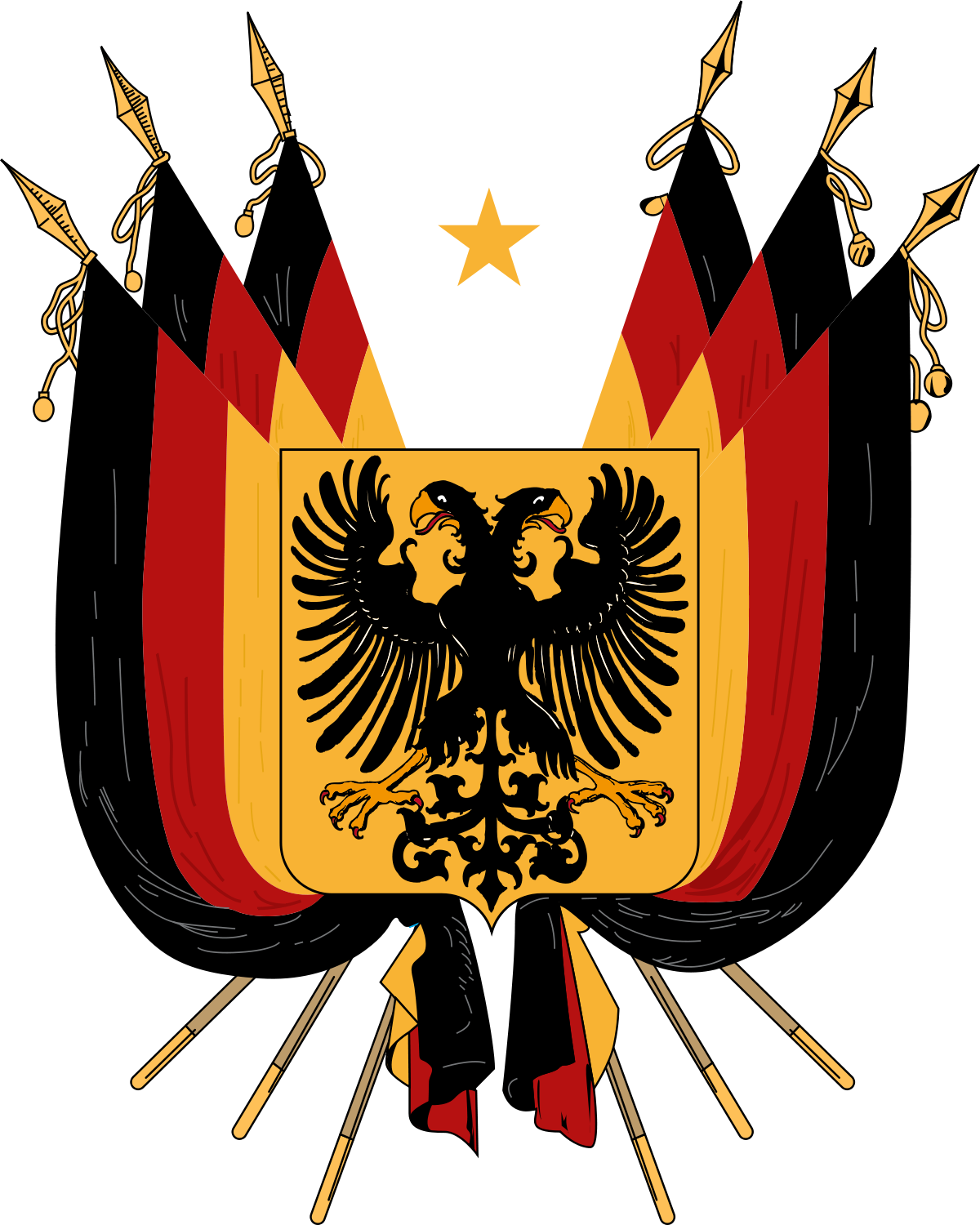 Coat of arms of germany clipart download File:Imperial Coat of arms of Germany (1848).svg - Wikimedia Commons download