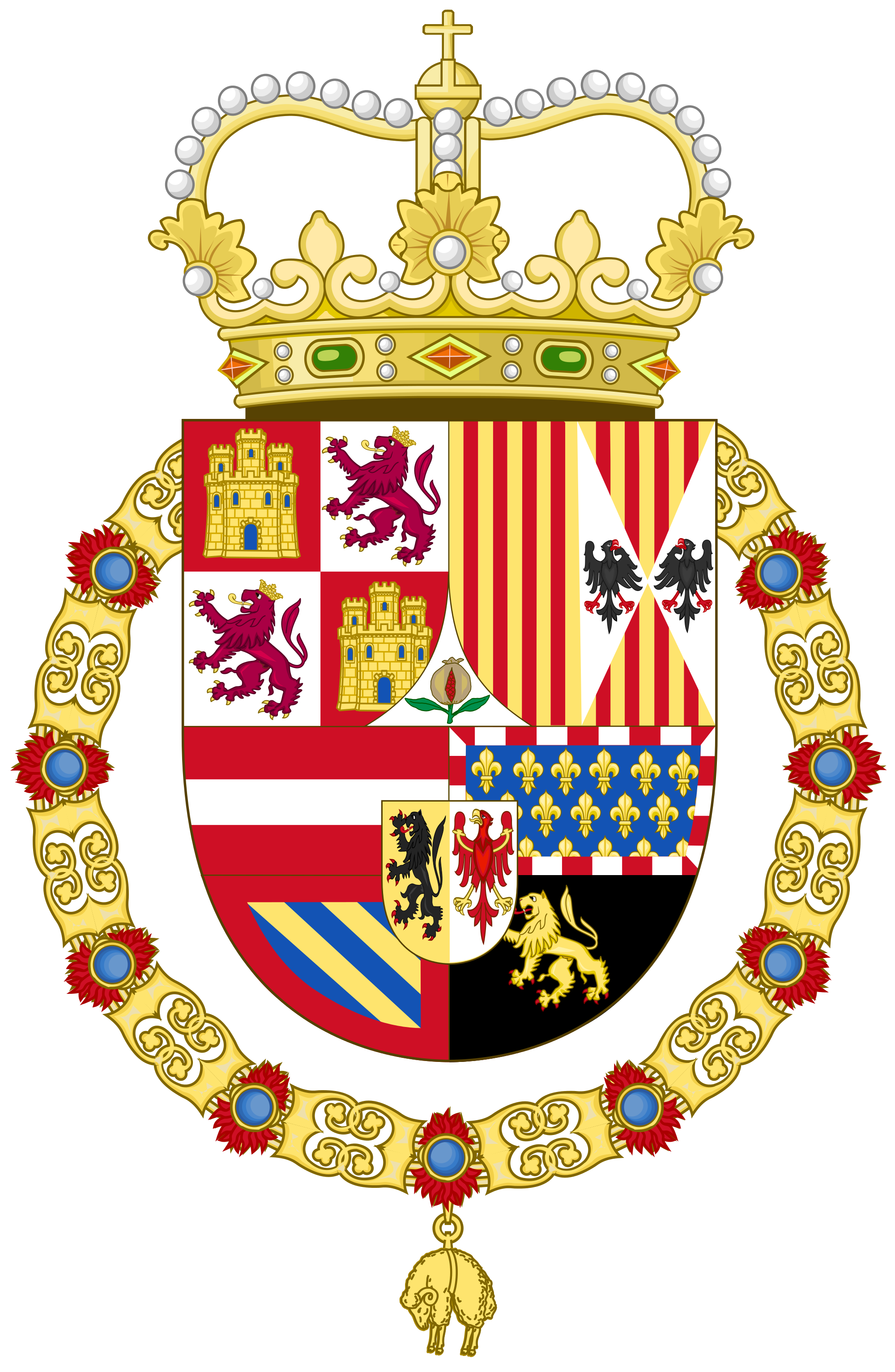 Coat of arms of spain clipart svg library library Coat of arms of Spain - Wikipedia svg library library