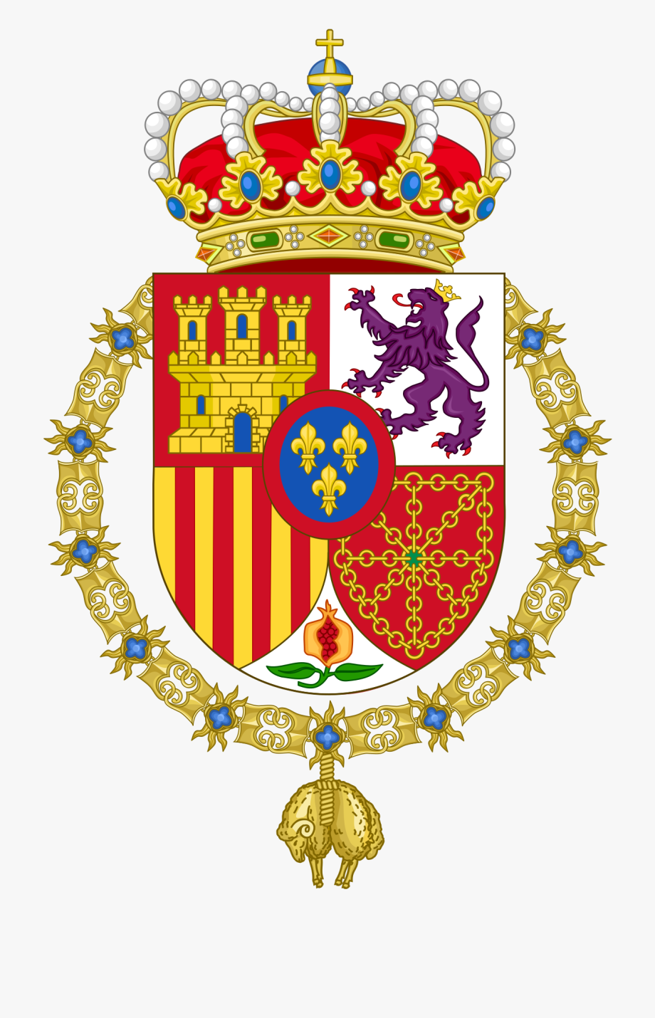 Coat of arms of spain clipart clip art royalty free library Spain Clipart House Spanish - Spanish Coat Of Arms #2344757 - Free ... clip art royalty free library