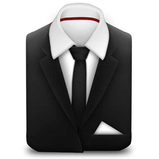Tie coat clipart clipart black and white library Manager Coat And Tie Black Icon, PNG ClipArt Image | IconBug.com clipart black and white library