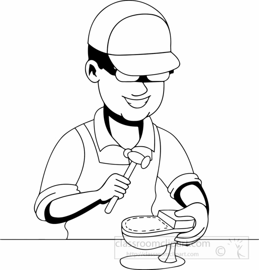 Cobbler clipart black and white png freeuse library Shoemaker Drawing at PaintingValley.com | Explore collection of ... png freeuse library