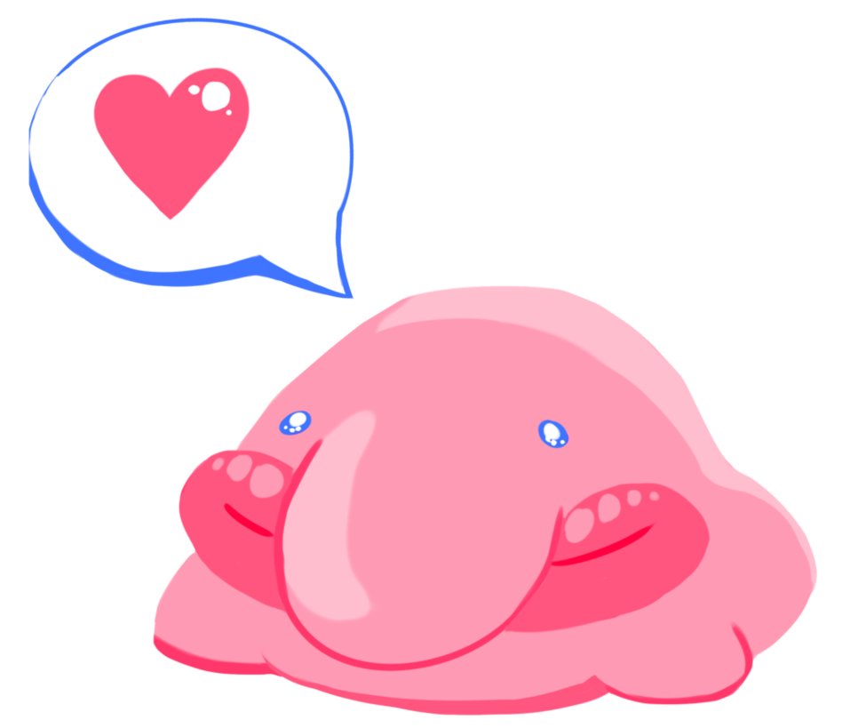Fish kissing each other clipart freeuse stock Pink Blob Fish Photos >> The Blobfish. Blobfish Slippers Ugly Cute ... freeuse stock