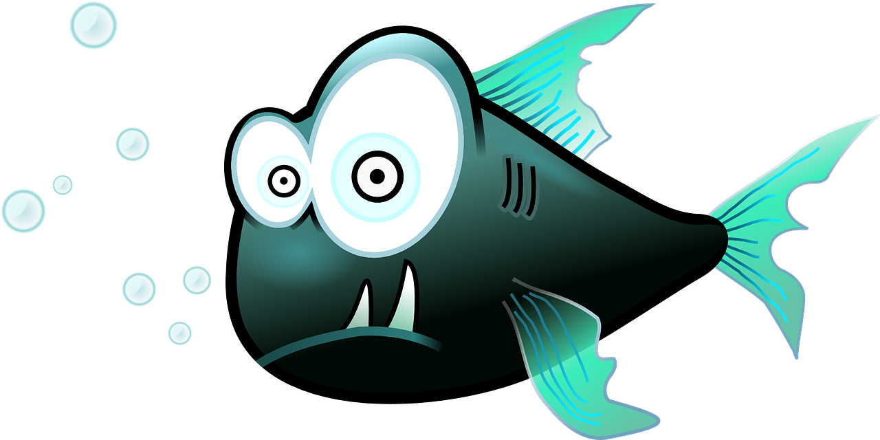 Fun fish clipart graphic black and white ifishcomps graphic black and white