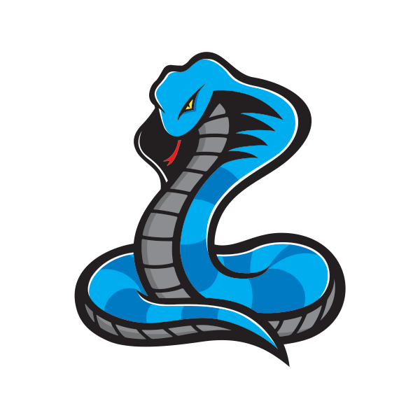 Cobra baseball mascot clipart clipart freeuse stock Printed vinyl Blue Cobra | Stickers Factory clipart freeuse stock
