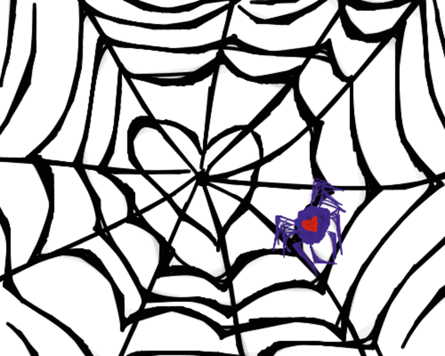 Cobweb heart clipart graphic stock Spider web - Heart by moonlight887 on Clipart library - Clip ... graphic stock