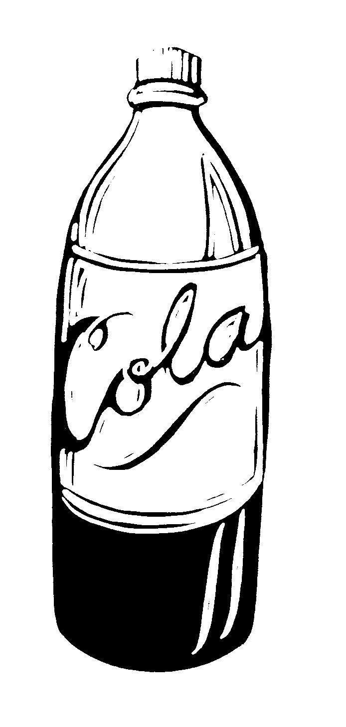 Coca cola bottle clipart black and white banner black and white library Coke Bottle Clipart | Free download best Coke Bottle Clipart on ... banner black and white library