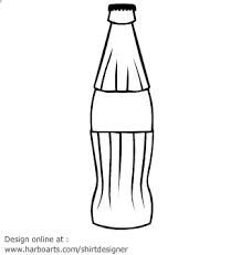 Soda bottle clipart black and white graphic library download Image result for coke bottle template | Coca Cola | Soda bottles ... graphic library download