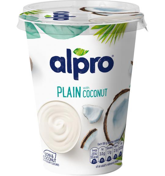 Cocconutyogurt clipart svg black and white stock plant based alternative to yogurt   Big   Plain Coconut   Alpro svg black and white stock