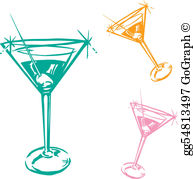 Free clipart cocktail glasses black and white Cocktail Clip Art - Royalty Free - GoGraph black and white
